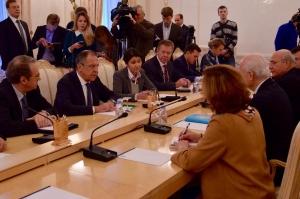 Встреча с С. де Мистурой, спецпредставителем Генсека ООН по Сирии, переводит Дарья Мандрова, выпуск 2014