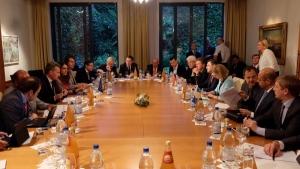 Переговоры по газу. Брюссель. Июнь 2014. Переводчик - Майя Косова