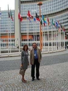 С.Г. Афонин и Майя Косова. Отделение ООН в Вене