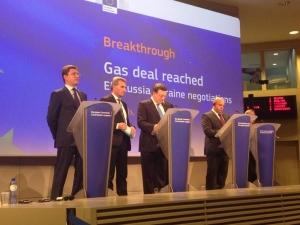 Переговоры между РФ и ЕС по поставкам газа через Украину. Переводчик - Майя Косова, 2009.jpg